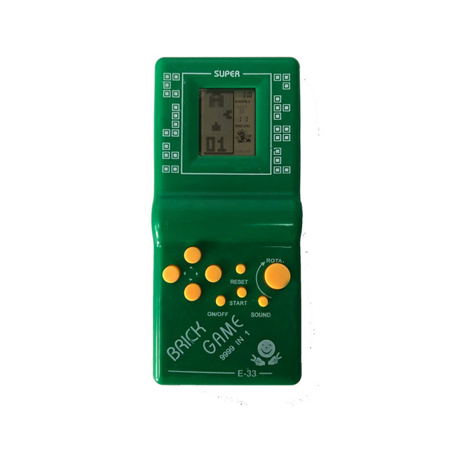 """Childhood Retro Classic Tetris Handheld Game Player 2.7"""" LCD Electronic GameToys Pocket Game Console Riddle Educational Toy"""