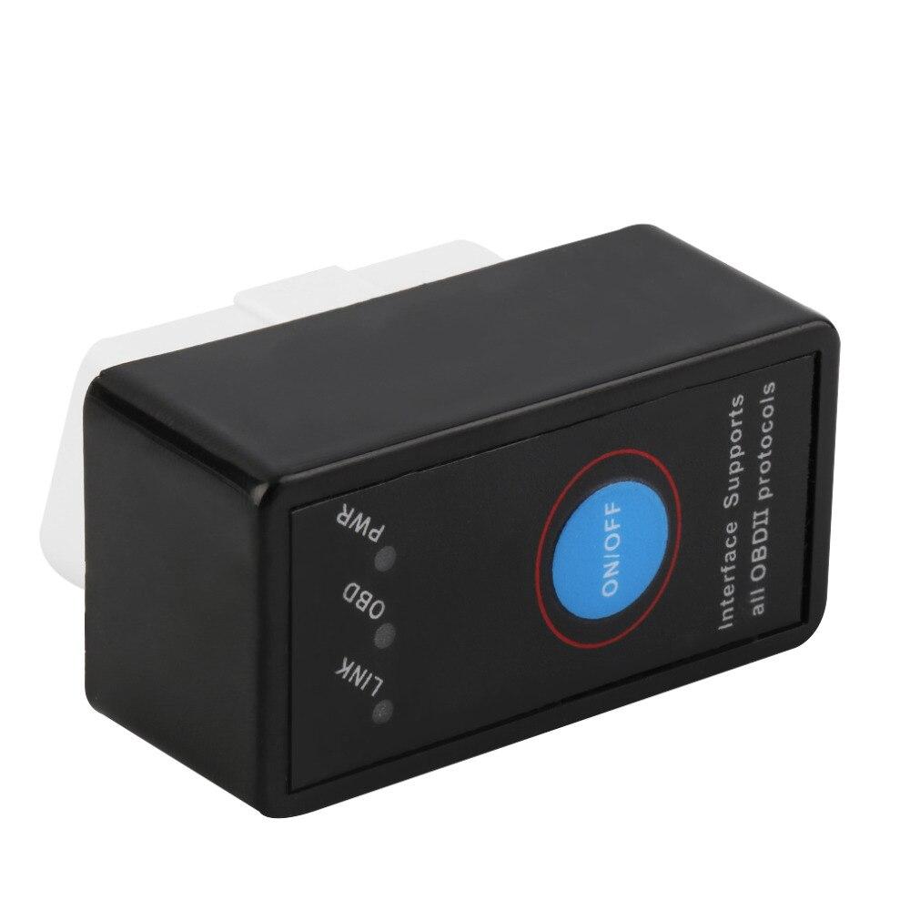 Авто Мини V2.1 ELM327 Bluetooth ELM 327 OBD2 OBD ii CAN-BUS диагностический инструмент автомобильный переключатель сканера работает на Android Symbian Windows