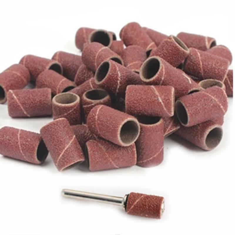 30pcs 1/4 Sandpaper Drum Set Sanding Drums Bands Sleeves Kit Block Sand Paper Disc Wood Wheel Dremel Drill Woodworking Tools 6mm