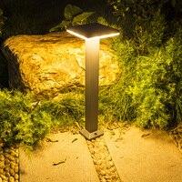 Thrisdar في الهواء الطلق حديقة مصباح حديقة الألومنيوم فناء المناظر الطبيعية أضواء الحديقة شرفة يارد المسار بارك فيلا آخر عمود مصابيح|مصابيح LED في الحديقة|مصابيح وإضاءات -