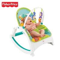 Настоящий Fisher Price бренд DMR87 детский стул тропический лес друзья Новорожденные для малыша портативный рокер многоцветные для рождественског