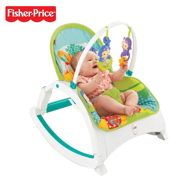 fisher price rainforest healthy care high chair 2 covers exeter genuine brand dmr87 baby friends newborn to toddler portable rocker multi color for christmas gift