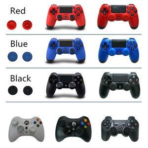 Image 2 - 10 шт./лот, Цветной силиконовый джойстик для Sony PlayStation 3, PS3, PS4, контроллер, крышка для Xbox360, XBOX ONE