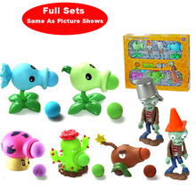 Hot Sale Plants VS Zombies Peashooter PVC Action Figure Model Toys For Christmas Gifts With Box 5 Pieces 2 pcs