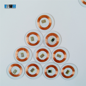 Image 2 - Chip TK4100/EM4100 de 125KHZ + diámetro de la bobina 25mm, tarjeta de moneda de PVC transparente, lectura única, tarjeta de identificación RFID en la tarjeta de Control de acceso
