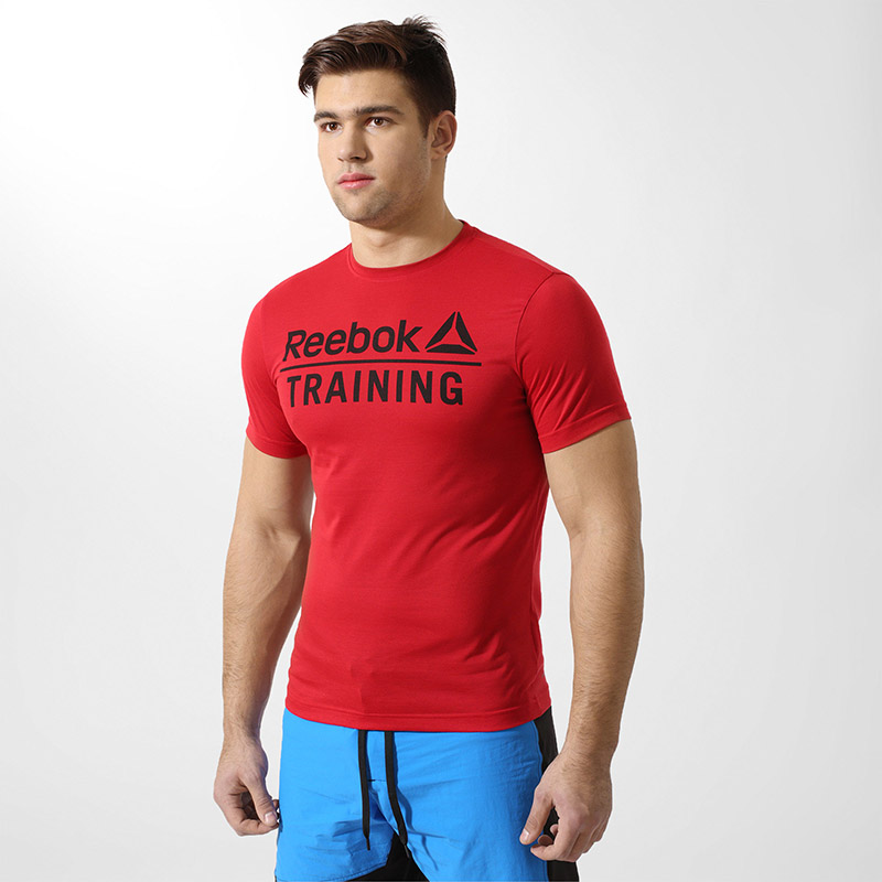 Male T-Shirt REEBOK BQ5419 sports and entertainment for men sport clothes smeg sf 4120 mcs
