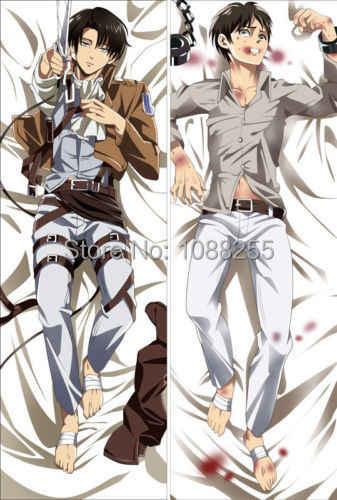 Hot Anime Attack On Titan Eren Yeager Levi Body Pillowcase