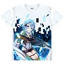Sword Art Online T shirts kawaii Japanese Anime tshirt Manga Shirt Cute Cartoon Kirito Kazuto Cosplay