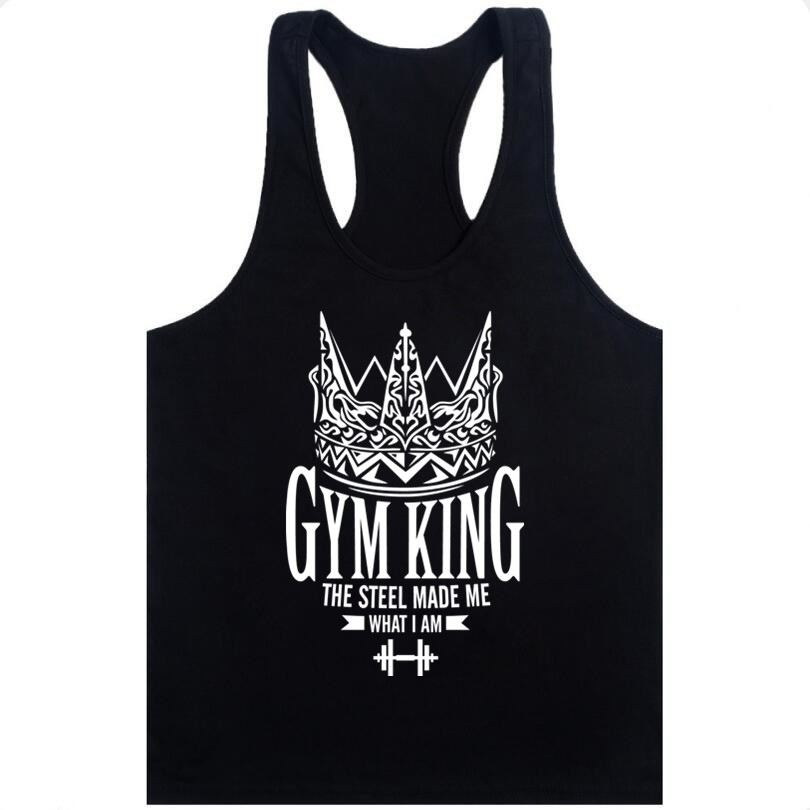 new fashion Men Fitness Clothing Tank Top Men's Bodybuilding Stringer Muscle Shirt Summer Vest Crossfit Cotton Workout For Man