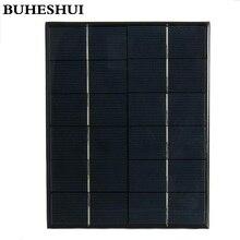 BUHESHUI  6W 5.2W 4.2W 3W 2W 6V Solar Panel Solar Cell Module DIY  Solar Panel Battery System Charger Education