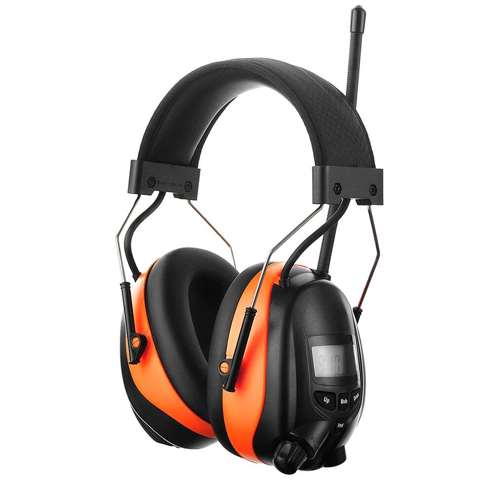 Électronique Bluetooth Oreilles NRR 25dB Protection Auditive AM FM Radio Casque Antibruit Réglable Tir Oreille Manchons
