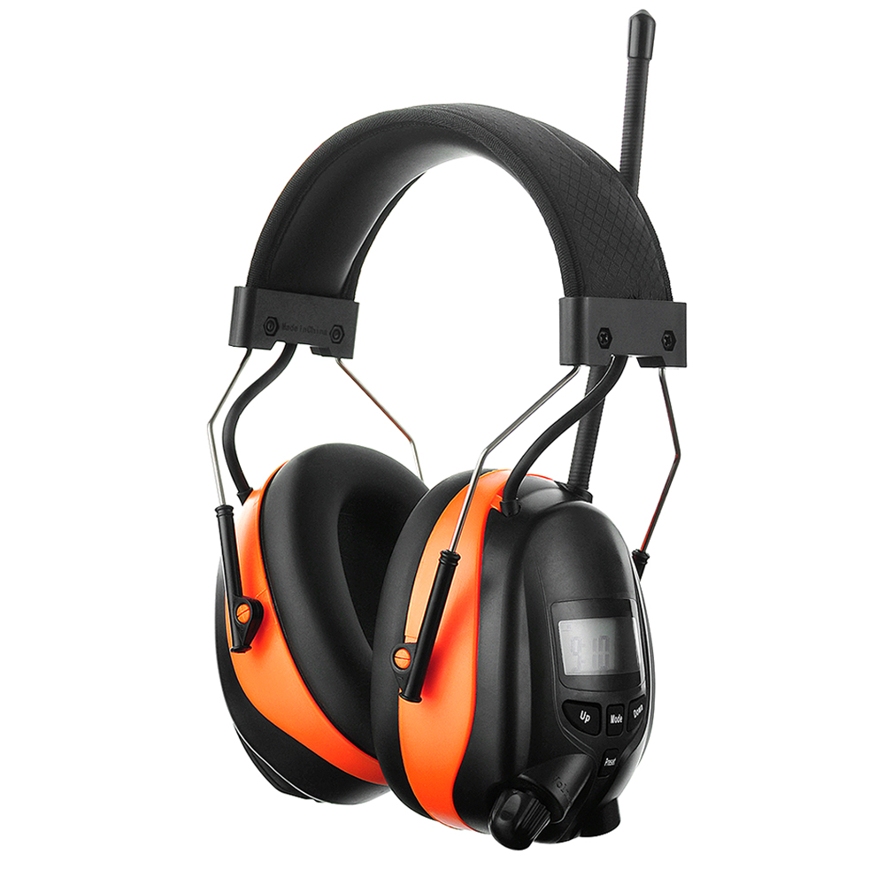 Electronic Bluetooth Earmuffs NRR 25dB Hearing Protection AM FM Radio Headphones Noise Canceling Adjustable Shooting Ear Muffs