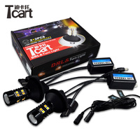 Tcart 1Set 3030 Lamps Auto Led Bulbs Car LED DRL Daytime Running Lights Turn Signal WY21W For Toyota Prius 2006 2010 Accessories