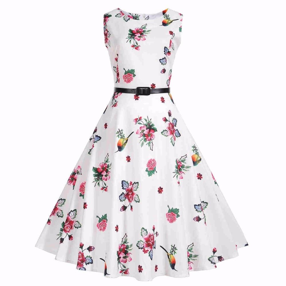 Ladies Dresses Casual 50s Vintage 2017 Summer Style font b Robe b font font b Femme