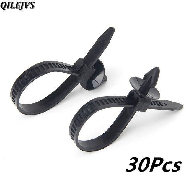 QILEJVS 30 Pcs Universal Nylon Black Car Auto Cable Strap Push ...