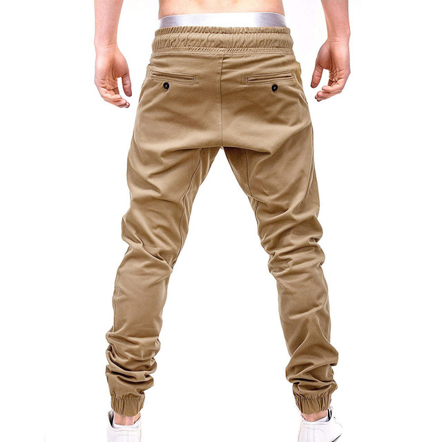 2019 men sweatpants cotton Casual pants slim fit Drawstring Harem Sweatpants Slacks Casual Elastic Pockets Trousers 3.22