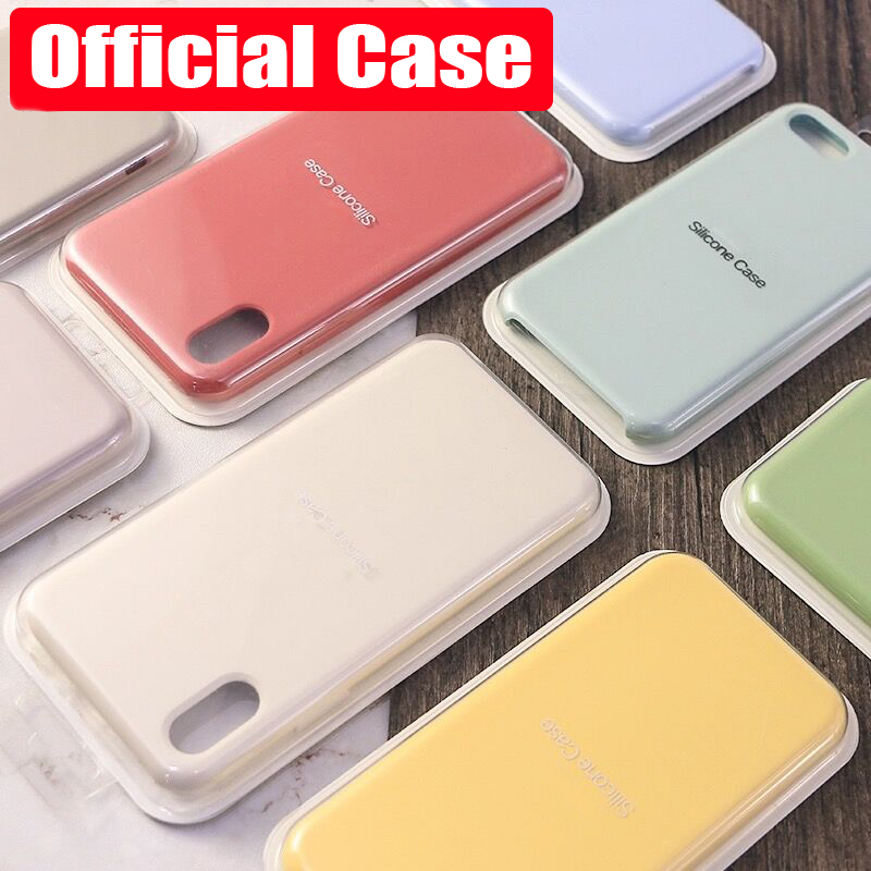 Luxury Original Official Silicone LOGO Case For iPhone 7 8 Plus Case For Apple iPhone X XS Max XR For iPhone 6 6S 5 5S SE Cover(China)