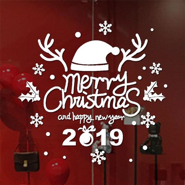 Image De Joyeux Noel 2019.1 26 35 De Reduction Nouveau Noel Autocollants Pour Fenetre 1 Pc Joyeux Noel 2019 Autocollant Maison Vitrines Decor Stickers De Noel Decor 30 Dans
