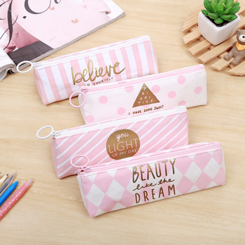 New kawaii pencil bag case school Girls Boys kids pencil-case box Canvas Stationary products office shcool Supplies gift