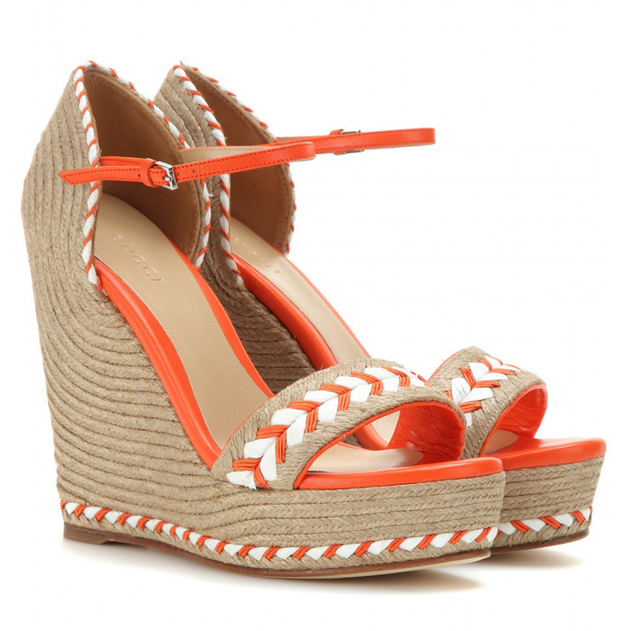 Online Shop Fashion Sky-High Closed Toe Espadrille Designer Wedge ...