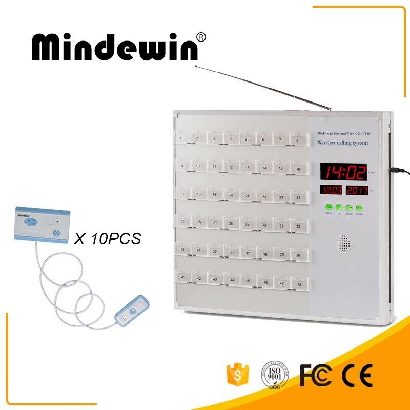 Mindewin вызова медсестры Системы 10 шт. кнопки вызова медсестры и 1 шт. медсестра хозяина станции полный английский Системы вызова пациента кноп