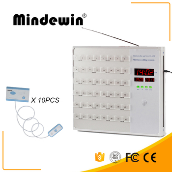 Mindewin Nurse Call System 10PCS Nurse Call Button and 1PCS Nurse Station Host Full English System Patient Call Button