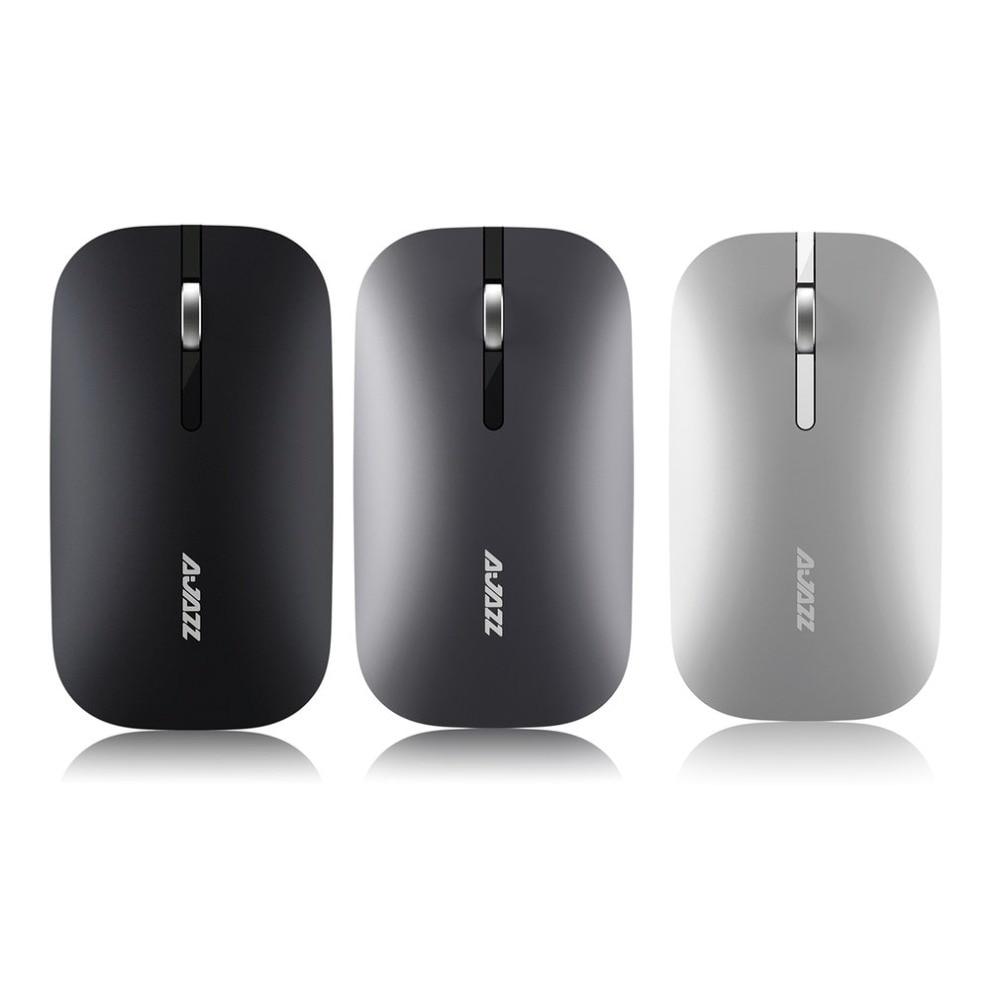 Ajazz Sottile Eccellente Senza Fili di Bluetooth Dual Mode Del Mouse Confortevole Durevole Resistenza Ottico Del Mouse per il PC Del Computer Uso Ufficio