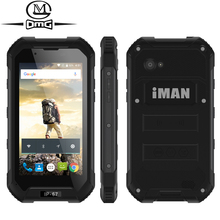 IMAN X5 IP67 Waterproof 3G Smartphone shockproof Mobile Phone 4.5″ MTK6580 Quad Core Android 5.1 8GB ROM 3000mAh Telephones