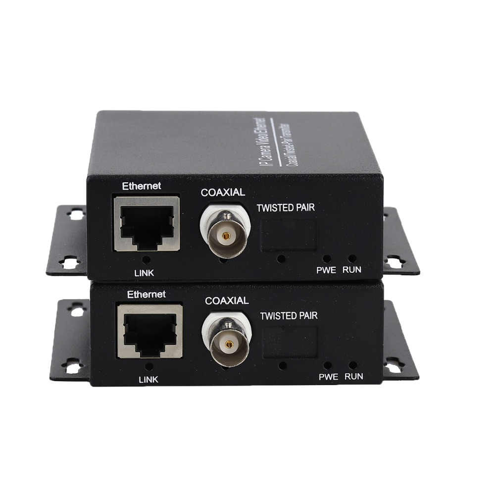 Image 2 - 2km Ethernet Extender Over IP Coaxial Network Extender 1080p  Video Converter Transmitter Receiver Support HIKVISION Dahua-in Transmission & Cables from Security & Protection