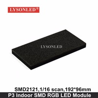 Lysonled P3 Indoor Smd Full Color Led Display Module 192x196mm 1 16 Scan P3 Indoor Rgb