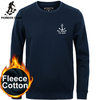 Free Shipping New 2015 Autumn Fashion Mens Hoodies Casual Sportswear 100 Cotton Thicken Fleece O Neck