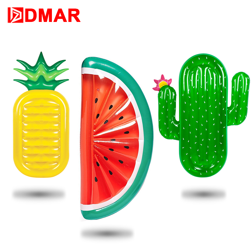 DMAR 185cm Giant Pool Float Inflatable Mattress Toys Watermelon Pineapple Cactus Beach Water Swimming Ring Lifebuoy Sea Party игровой коврик cougar control s