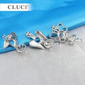 Image 2 - CLUCI 10 teile/satz Gemischt Vogel Stile Silber Überzogene Käfige für Frauen Heißer Wünschen Perle Medaillon Schmuck MPC003SB