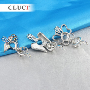 Image 2 - CLUCI 10pcs/set Mixed Bird Styles Silver Plated Cages for Women Hot Wish Pearl Locket Jewelry MPC003SB