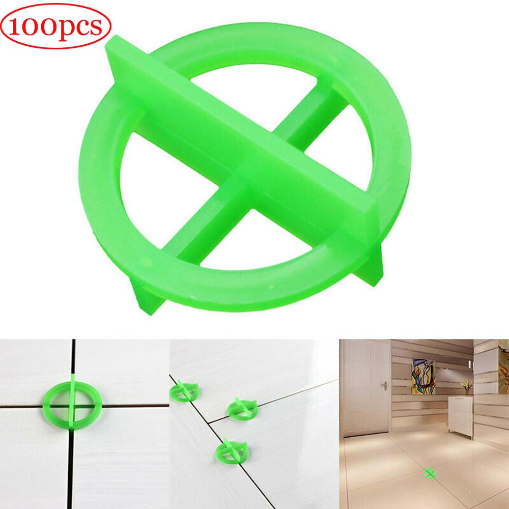 100 Pcs Green Or White Cross Leveling Recyclable Plastic Tile Leveling System Base Spacer Tiles And Tiling Tiles