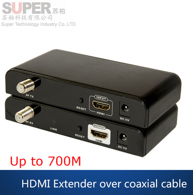LKV379 HDMI Extender 99 Channels HD 1080P H.264 HDMI to RF HDMI Extender Transmitter & Receiver w/ CATV splitter video adapter