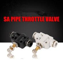 Pneumatic Airflow Regulator Air Quick Connector Fitting White Boutique SA 4/6/8/10/12 Pipe Throttle Valve Compressor Accessories стоимость