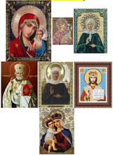 5d Round Religion Icons Diamond Painting Cross Stitch Kits Diamonds Embroidery Mosaic Pictures of Rhinestones Christmas