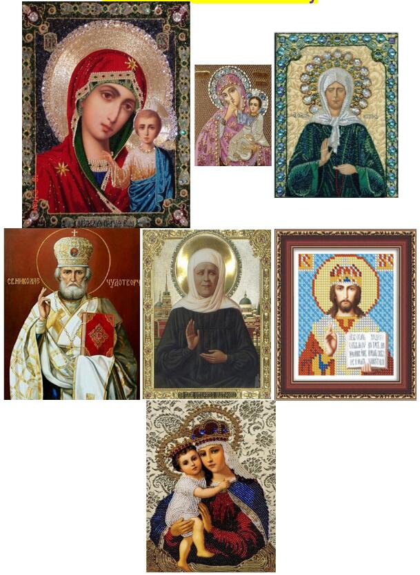 5d Round Religion Icons Diamond Painting Cross Stitch Kits Diamonds Embroidery Mosaic Pictures of Rhinestones font