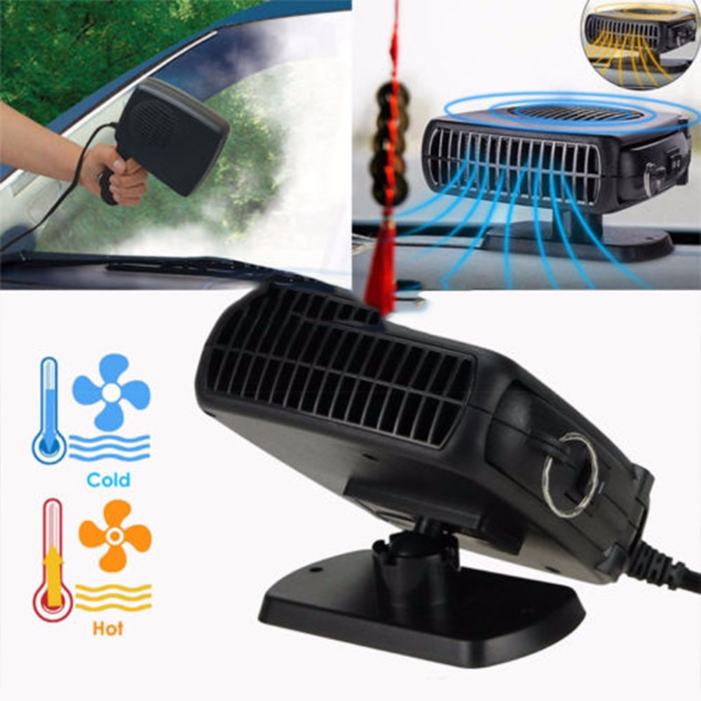2 In 1 Car Portable Ceramic Heating Cooling Heater Fan Defroster Demister DC 24V /12V ...