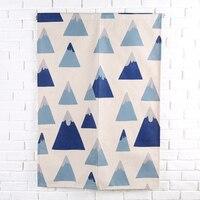 Blue Deer Cotton Linen Room Partition Divider Creative Cotton Linen Door Curtains Hanging Home Coffee Shop