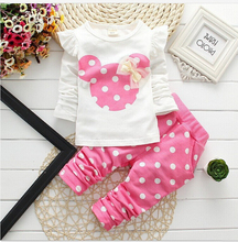 New Children clothing sets boys and girls fashion sportswear sets Baby Kids T shirts and Pants Cotton Clothes for 1-4 years old