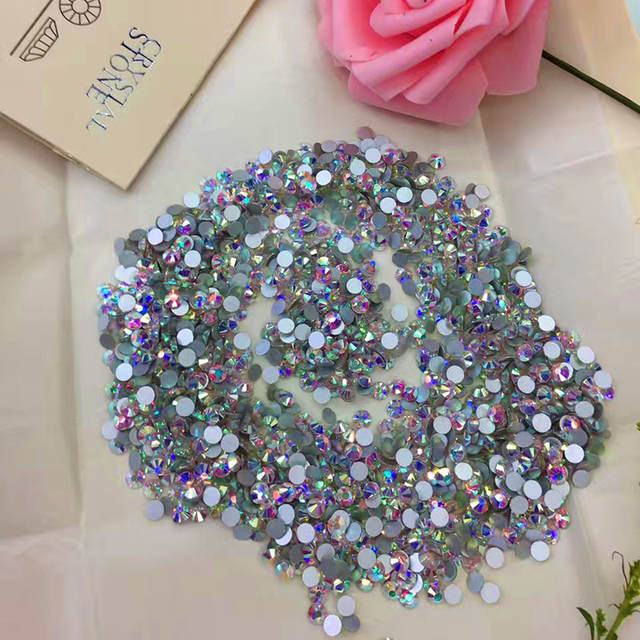 Online Shop All size Non Hot Fix Rhinestones Crystal AB Glass Stones Machine  Cut Flatback Strass For Nail Art  72a0bf012925