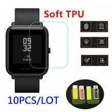 10 Uds. Al por mayor original para xiaomi huami Amazfit bip protectores de pantalla película protectora ultrafina full HD TPU reloj inteligente