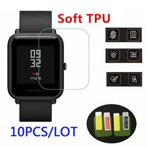 Image 1 - 10pcs wholesale original for xiaomi huami Amazfit bip Screen Protectors ultra thin protective film full HD TPU smart watch