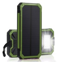 PowerGreen 5V 2A Solar Charger 15000mAh Fast Charging Solar Power Bank Battery Power Backup For Phone