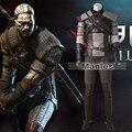 The Witcher 3 Wild Hunt Geralt de Rivia Traje Cosplay Juego traje Traje de Los Hombres Adultos de Halloween Costume Set Completo Personalizada hecho