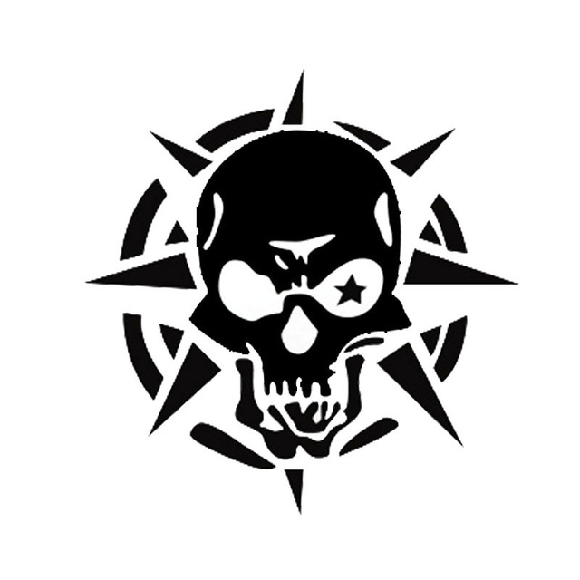 1415cm storm phantom ghost rider skull car stickers funny car stickers reflective decals black
