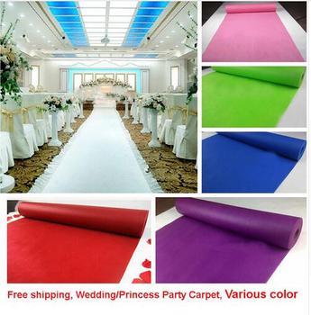 Tanie jakości 0 5mm grubości wesele dywan dywan do ozdobnych upięć podczas uroczystości dekoracji włókniny 80cm x 10m jednorazowe wykorzystanie tanie i dobre opinie