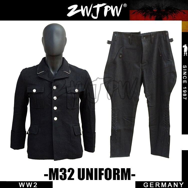 GERMAN ELITE M32 WH SS BLACK WOOL JACKET AND TROUSERS UNIFORM DE/505106 wool felt cowboy hat stetson black 50cm
